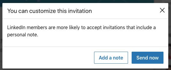 Send a personalized connection invite